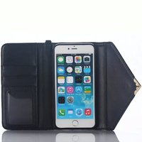 Envelope with Free String Leather Cover Case for iPhone 6plus Wallet Case with Card Slot MT-5348