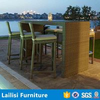 Miami muebles de jardin urban style wicker tables and bar chairs used