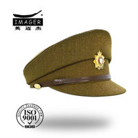 Scotland yellow top made fleece military peaked hats