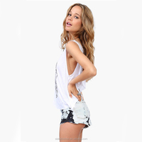 Women's Tank Top Round Neck Cascading Back Loose Casual Tops Vest Newest!! XTY906