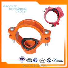 ductile iron pipe fitting Grooved Mechanical Cross with Top quality