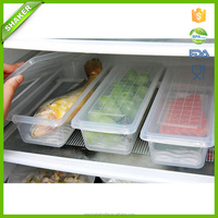 Storage Kitchen Organizer Plastic Meat Food Storage Containers Fresh Refrigerator Case Fish Crisper Box Clear Plastic