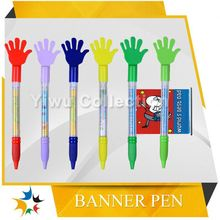 free pen sample,pull out true color printing banner pens,plastic retractable pens