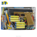 plastic shooting toy pistol simulate soft butllet gun for child