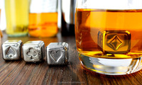 stainless steel whiskey Stones Whisky Chilling Rocks in Gift Box with Carrying Pouch, Set of 8 whiskey stones