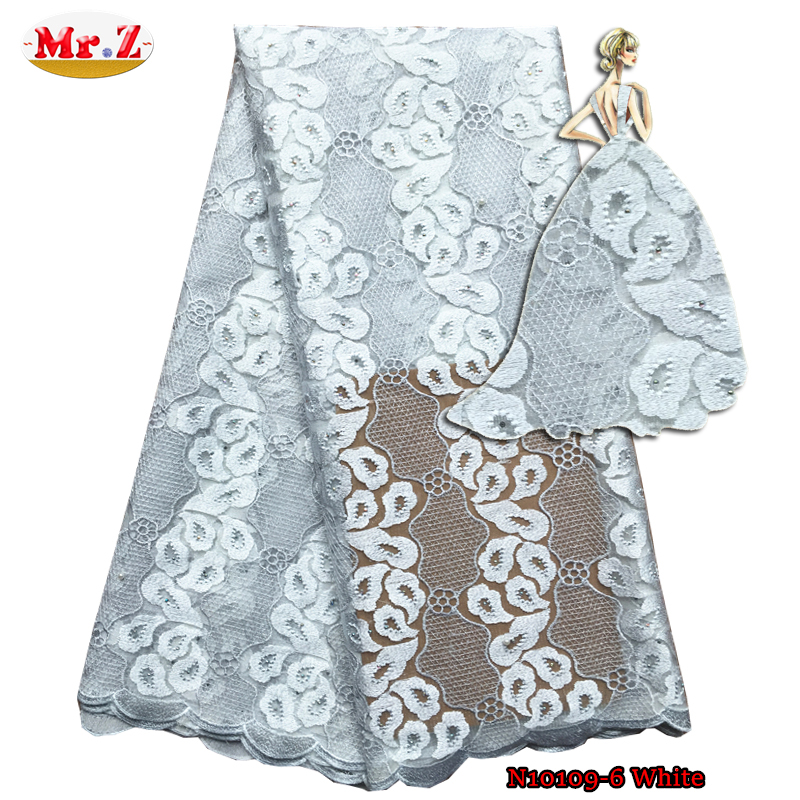 Mr.Z White African Lace With Beads