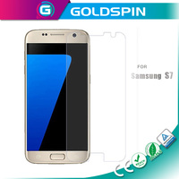 GOLDSPIN Perfect Fit Full Cover Tempered Glass For Samsung Galaxy S7 Screen Protector