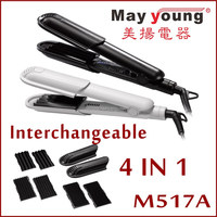 Top quality PTC heater 4in1 multifunctional flat iron hair straightener