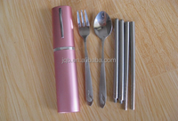 travel cutlery set in plastic case