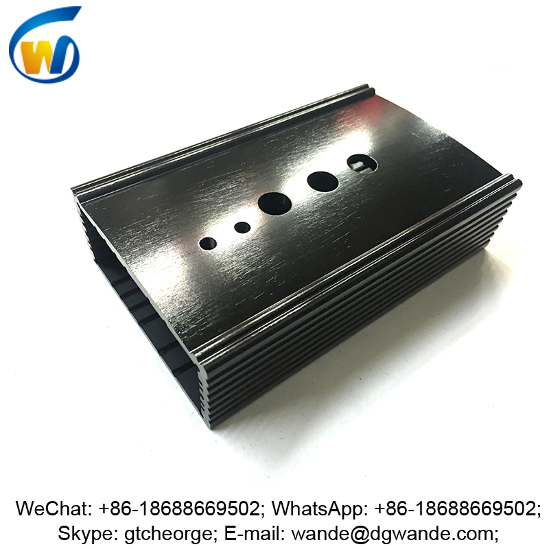 custom brushed black anodized aluminium box