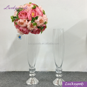 LHP019 unique glass vases wedding centerpiece event glass vase wholesale