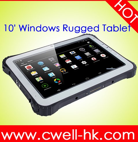 waterproof tablet pc ip65 WCDMA 3G Android 4.4 or window 10 10.1 inch quad core 2GB 32GB GPS/GLONASS