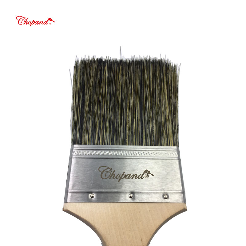 2019 New Design Chopand birch handle and stainless steel ferrule paint brush with Free hand belt