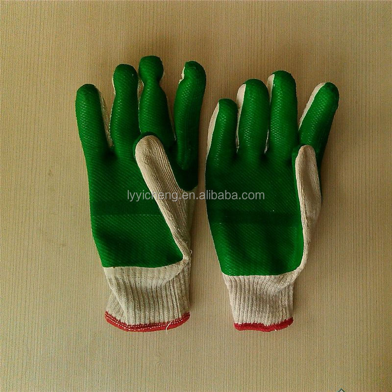 rubber coated cotton glove/latex glove wholesale china