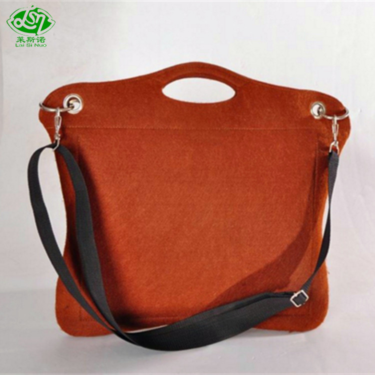 Low price guaranteed quality messenger Felt laptop bag 14 inch for ladies