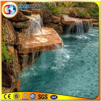 Classical Style Decorated Wall Water Cultural Stone Waterfall Fountains