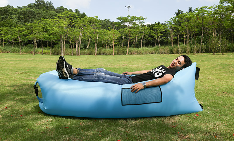 Outdoor Camping Hiking Travel Inflatable Air lazy lay bag sleeping Lounge Sofa