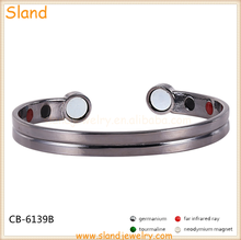 wholesale jewelry bio energy negative ions magnetic solid copper bangle germanium and tourmaline bracelet for health balanace