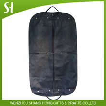 black personalised garment bag dry cleaning with zipper/blue non woven wedding dress garment bag wholesale