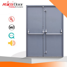 Cheap Fire Rated Steel Doors With Panic Push Bar For Commercial