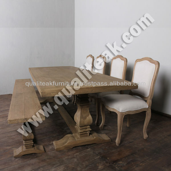 Antique Dining Table Sets - French Country Distress Dining table