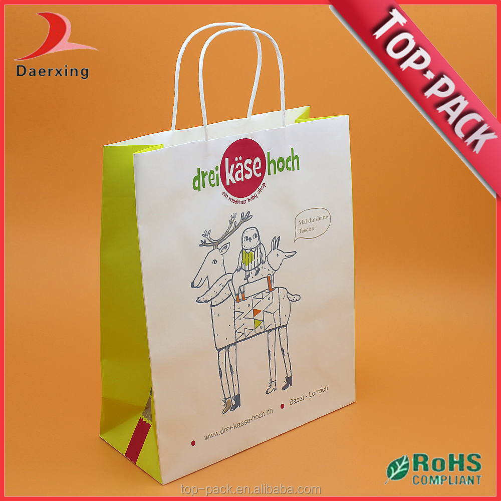 taobao wholesale recyclable paper bag shopping bag