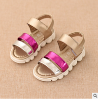 F10022E high quality fashion fish mouth sandals for girls soft sole kids sandals