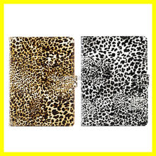 Luxury Leopard Grain Leather Flip Stand Smart Case For Apple iPad 5/iPad Air Black White Portfolio Book Stand Online Hot Sell