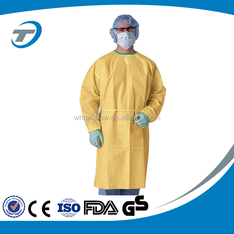 Disposable clothes plastic Isolation Gown