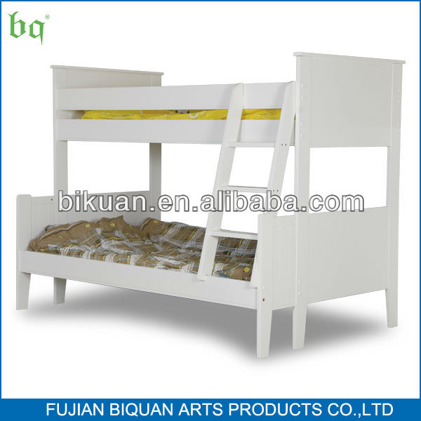 white comfort solid wood kids bunk bed with stairs