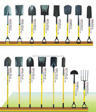wide range of operation, carbon steel material, round/square head, digging shovels