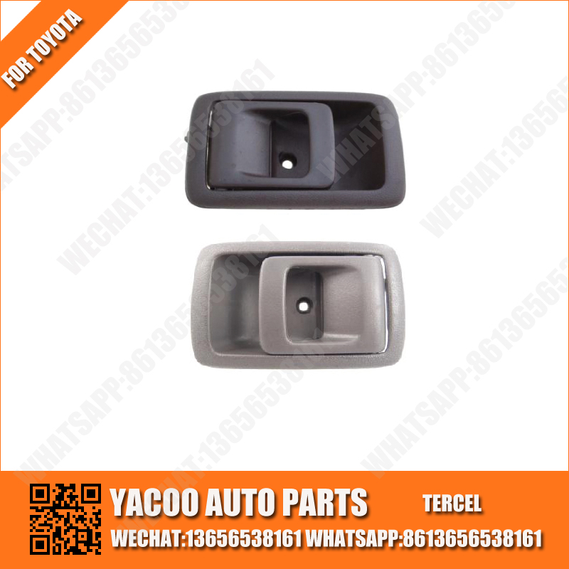 YACOO INTERIOR AUTO CAR DOOR HANDLE FOR TOYOTA TERCEL 1995-1999 1991-1994 69205-10070 69206-10070 69205-16100 69206-16100