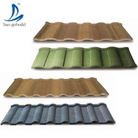 Factory sell Roof tiles prices/al-zn stone coated metal roof tiles/China decras roofing tiles