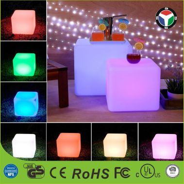 2016 hot sale LED Cube Light ,led glow cube stool,light up bar stool Colorful Changing Outdoor Seat LED Cube