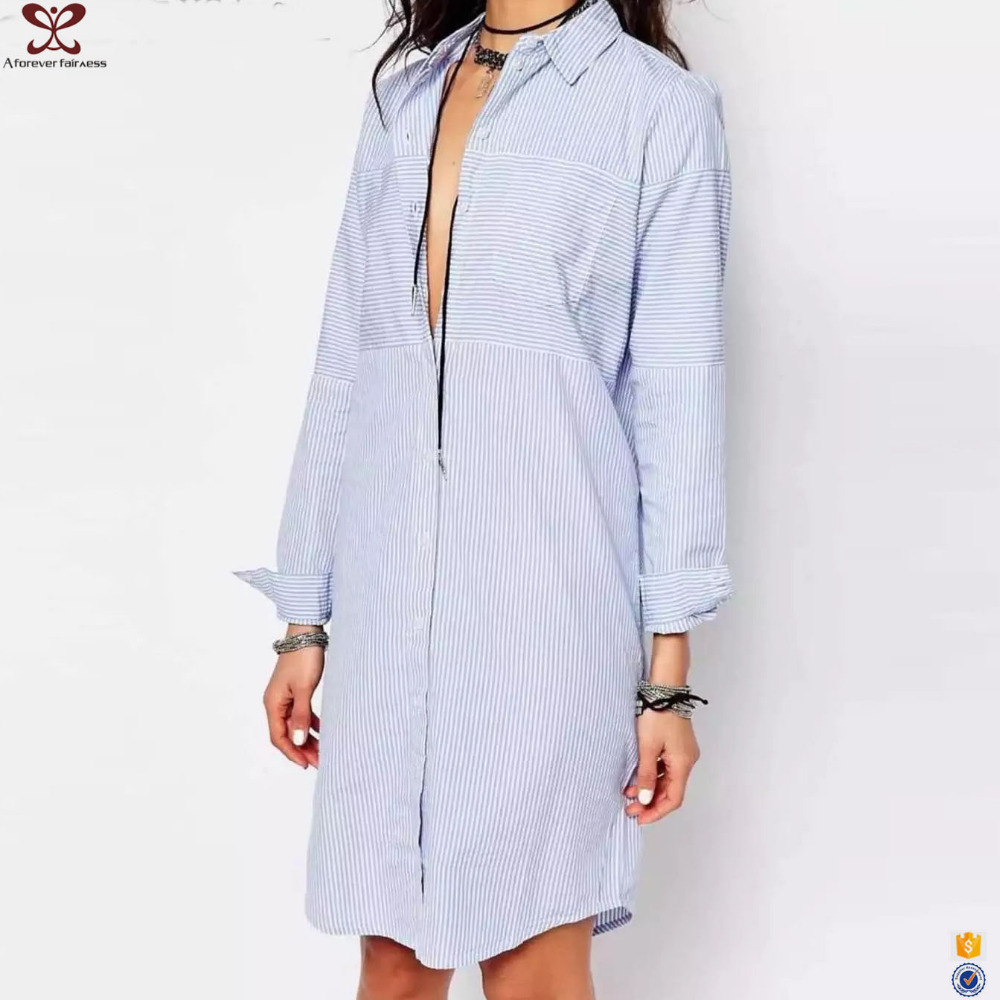 Shirt design blue cotton - Casual Women Strong Shirt Strong Strong Design