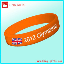 2012 olympics silicone wristband with print 3 colors