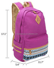 Cute school bags for teens kids pink polyester 420D with hidden nylon zipper