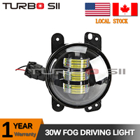 Local Delivery ! 30w led fog light 4 inch Round DRL motorcycle fog lights led for Harley