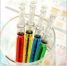 Syringe ballpoint pen with various colors/ injection pen/ various pen in stock