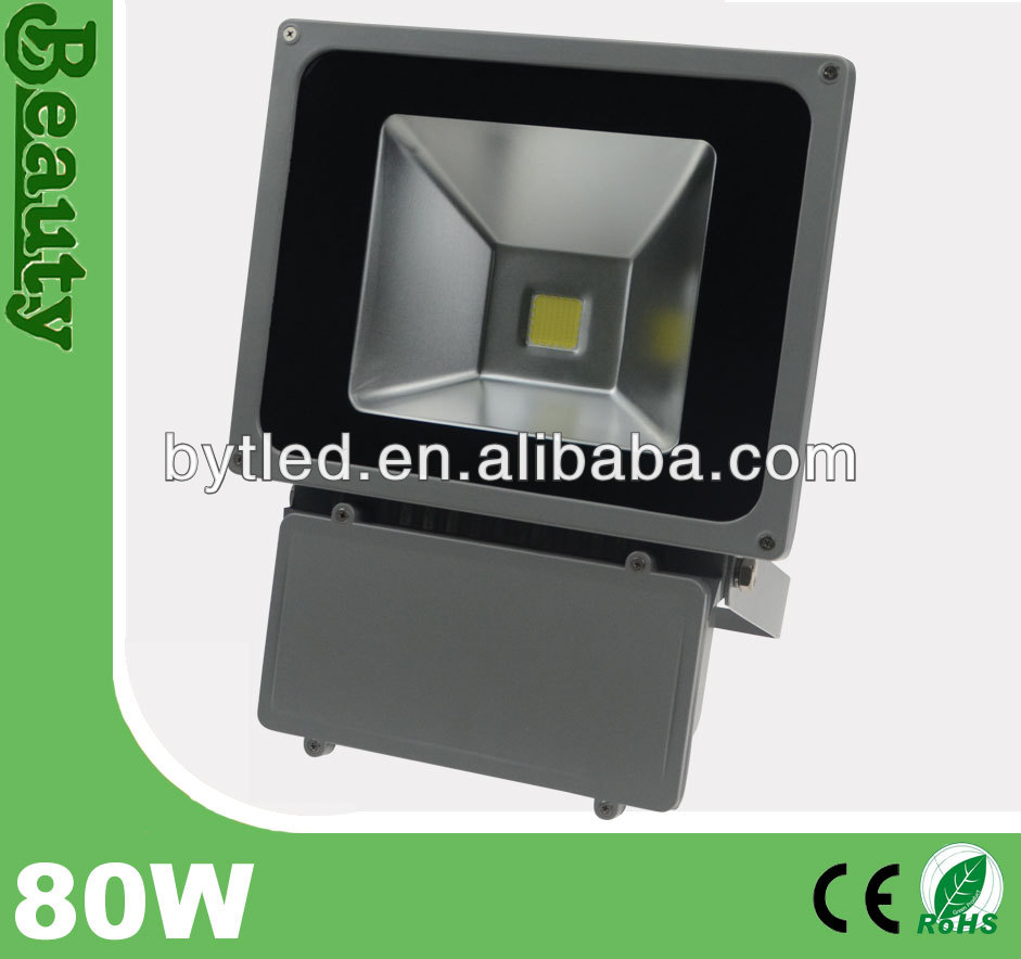 outdoor high lumen led 80w projector light IP65 CE floodlight