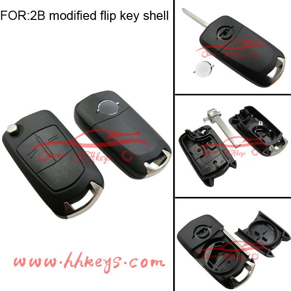 Best replacement spare key opel 2 button folding key for Opel Corsa flip key
