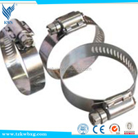 Multiple galvanized stainless steel hose hoops
