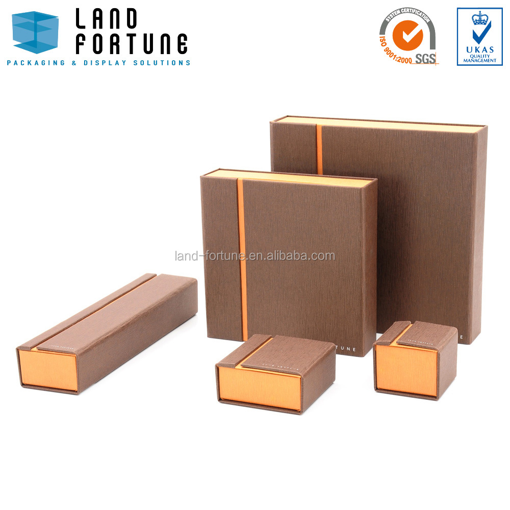 Square top with stripe paper jewellery packaging box with magnet wholesale manufacturer