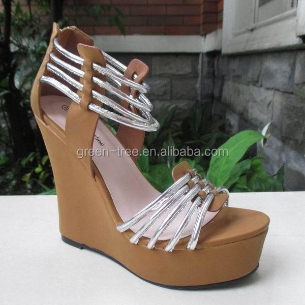 2016 High Quality Sexy Wedge Sandal Shoes with Straps for Women