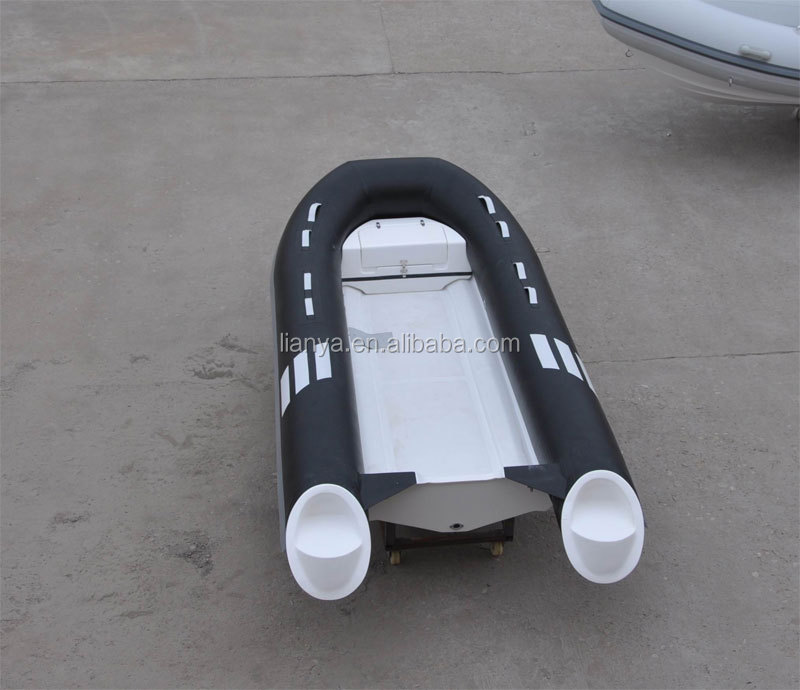Liya 4.3m PVC ribs dinghy yacht fibergalss open rib boat for sale