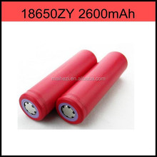 new products 3.7v rechargeable Lithium ion Battery Cell 18650ZY 2600mAh18650 battery and charger