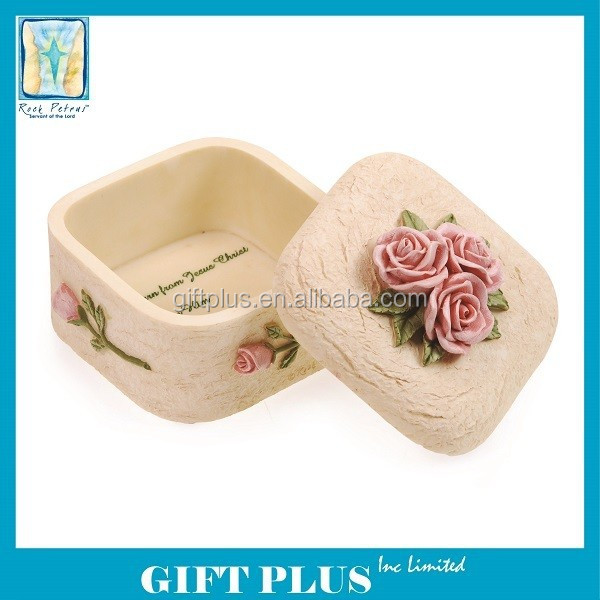 Rock Petrus Love Polyresin Jewelry Box
