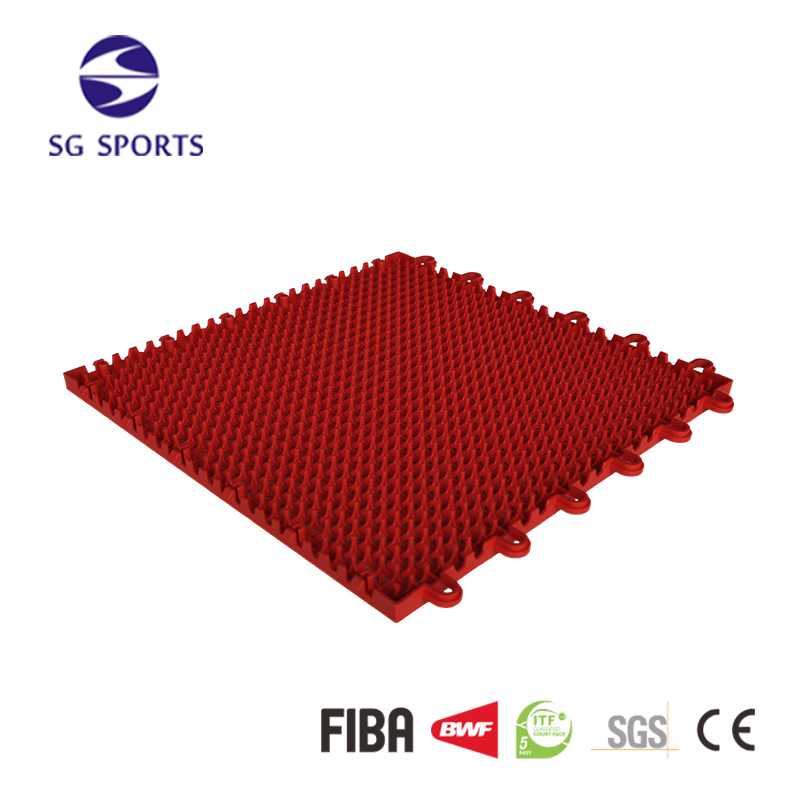 Anti-slip basketball/badminton/volleyball/tennis sports court flooring tiles