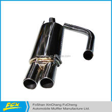 Euro car exhaust system end muffler 201ss and 304ss end muffler stainless steel welded end muffler