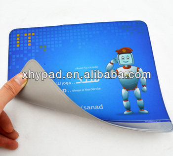 pvc foam transparent mouse mat